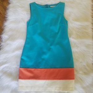 "Trina Turk ""Cheer"" Color Block Shift Dress Size 2"